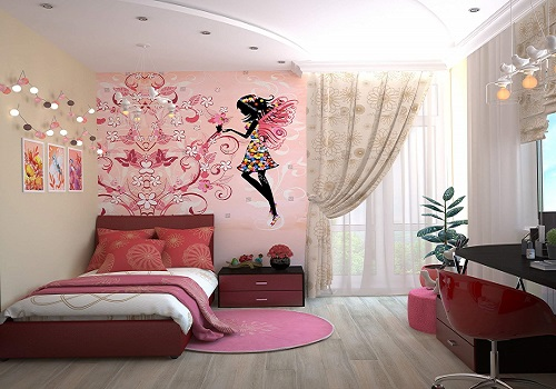 pink fairy room for girls