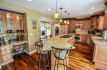 view of a kitchen with hardwood floors
